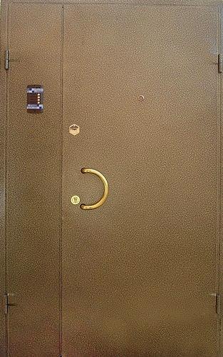железная дверь с домофоном в детский сад