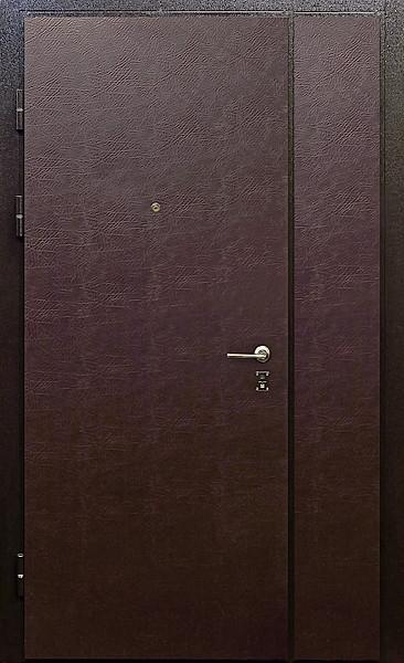 металлическая дверь с боковой вставкой